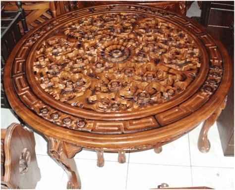 Meja Oshin meja osin oshin ukir model diameter pengrajin mebel