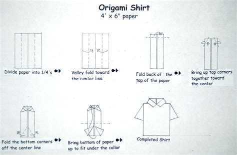 How To Fold A Shirt With Paper - father s day origami card lakesidester