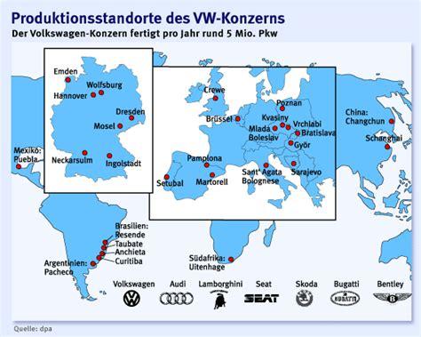 Produktionsstandorte Audi by Wo Volkswagen Seine Autos Baut Wirtschaft Faz