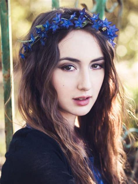 Grosir Dress Blue Silk Headband floral crown bridal flower crown wedding hair
