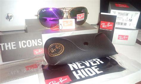 Kacamata Rayban Aviator 3026 Purple Ungu gafas ban aviador morado dreamy purple 3026 3025 dorado 1 329 00 en mercado libre