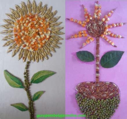 bahan untuk membuat lukisan kolase berbagai contoh gambar kolase dari bahan biji bijian