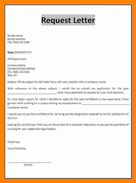 Invoice Correction Request Letter format of request letter cover letter templates