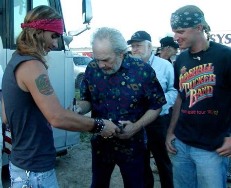 merle haggard tattoo country dirt artists react to the of merle