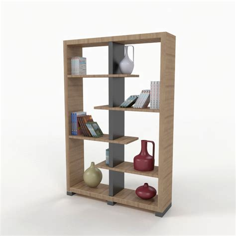 bookshelf 2 3d model max obj 3ds fbx cgtrader