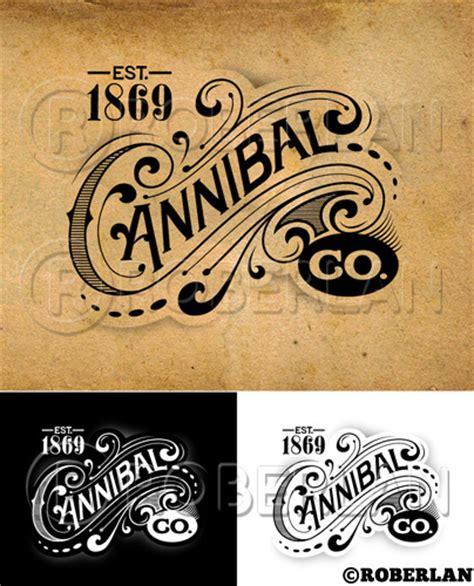 design logo retro cannibal co vintage logo illustrator by roberlan