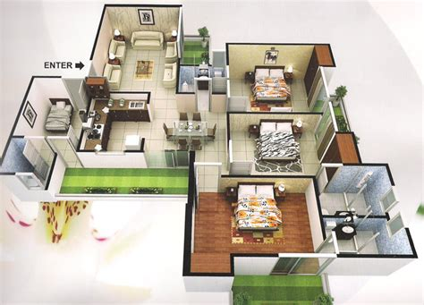 house plan 3d view 3d view of house plan house design ideas