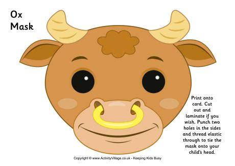 new year animal masks free ox mask printable