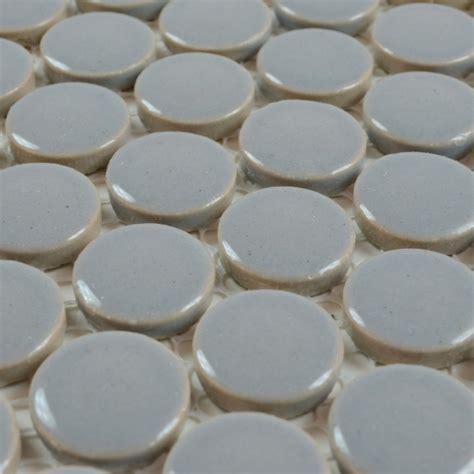 round bathroom tiles porcelain tile backsplash penny round mosaic glazed
