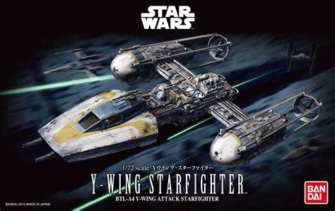bandai 1 72 scale model kit wars y wing starfighter