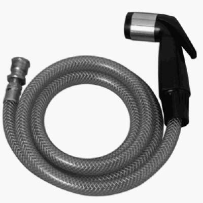 plumb shop div brasscraft black sink spray hose for