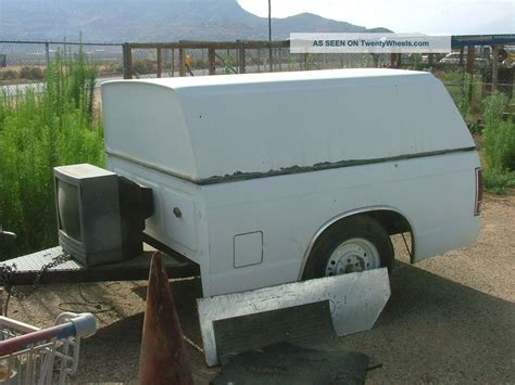 utility bed trailer cing or utility trailer single axle made from truck bed