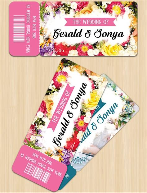 Ready Wedding Invitations by 26 Invitation Ticket Templates Ffee Premium