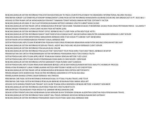 contoh judul skripsi sistem pakar contoh 193