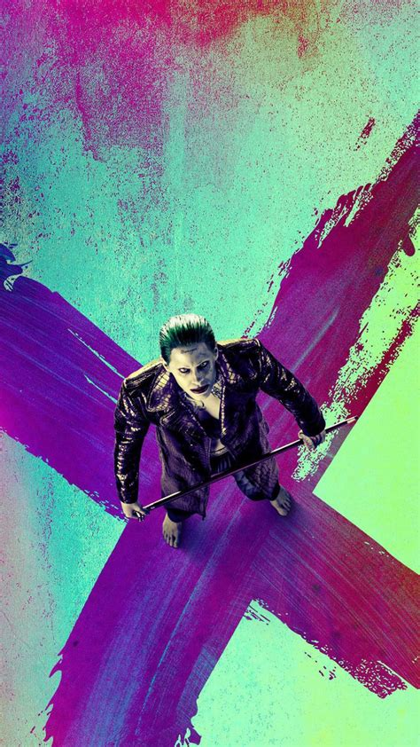 joker suicide squad top view  android wallpaper