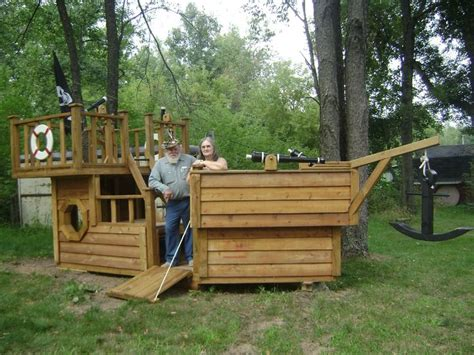 free wooden boat playhouse plans pirate boat playhouse woodworking projects plans