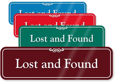 lost and found 3 in x 10 in showcase wall sign sku se 1632