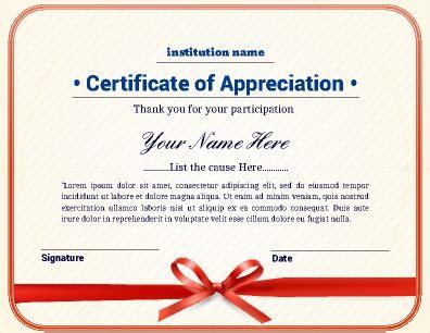 editable certificate of appreciation template certificate of appreciation template editable pp