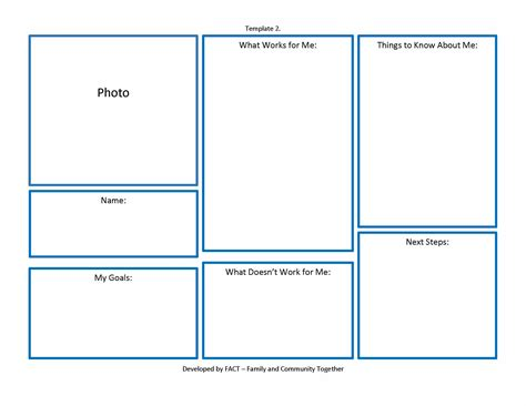 image gallery one page profile template
