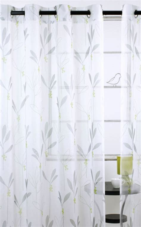 shimmer curtains shimmer sheer grommet curtain pair 56x95 quot in chartreuse