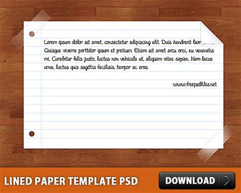 paper l template lined paper template psd l freepsd cc free psd files