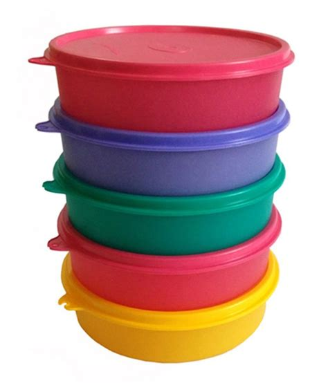 Insulated Bowl 500 Ml Tupperware tupperware polypropylene 500 ml lunch box set of 5 buy at best price in india snapdeal
