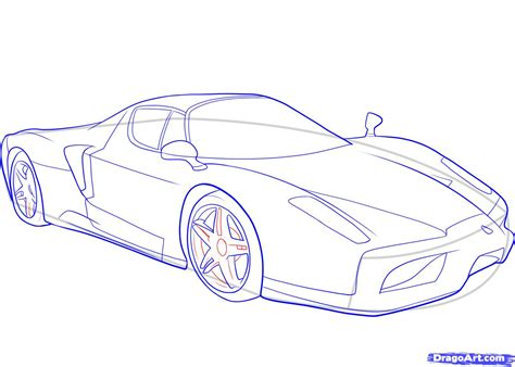 ferrari enzo sketch how to draw a ferrari step by step cars draw cars