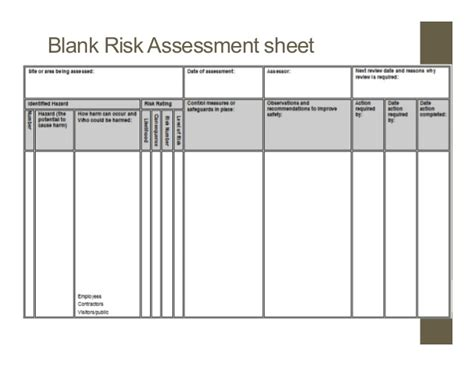 industrial risk assessment template industrial risk assessment template gallery free