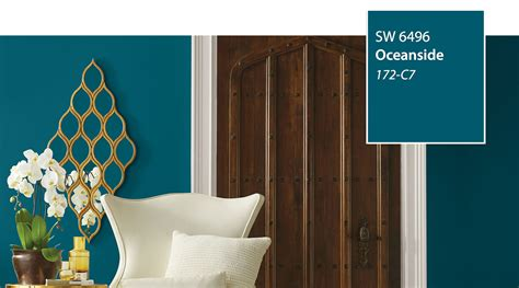 color of the year sherwin williams sherwin williams color of the year oceanside sw 6496 fashion trendsetter