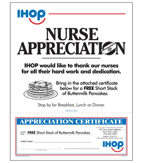 appreciation letter to nurses ihop local store marketing appreciation letter