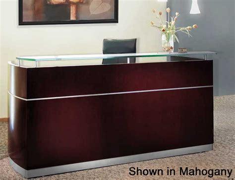 napoli reception desk  floating glass transaction counter