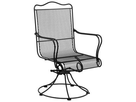 Wrought Iron Swivel Patio Chairs Woodard Tucson Wrought Iron High Back Swivel Rocker Dining Chair 1g0072