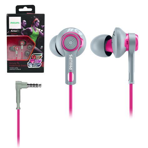 Philips Sports Earphone Shq3300 philips sports in ear headphones high quality sound all weather earphones ebay