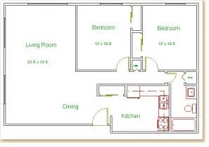 2 Bedroom Floor Plans by Two Bedroom Home Plans 1000 House Plans Span New