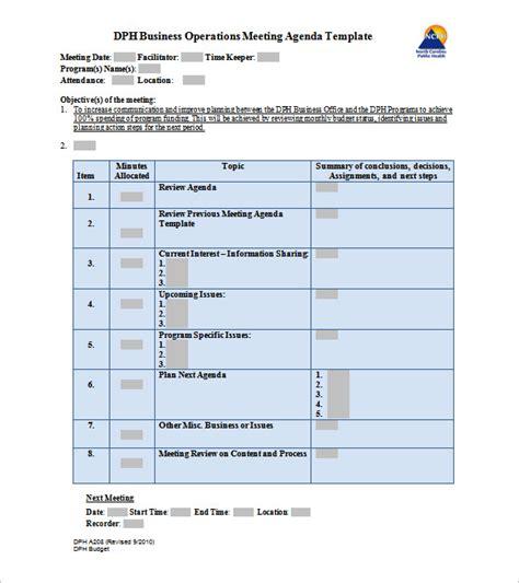 school agenda 6 free samples examples format