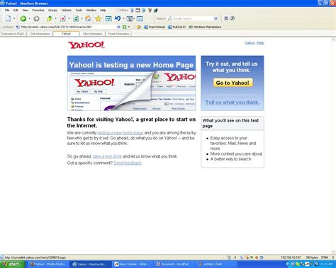 yahoo testing new home page layout techcrunch