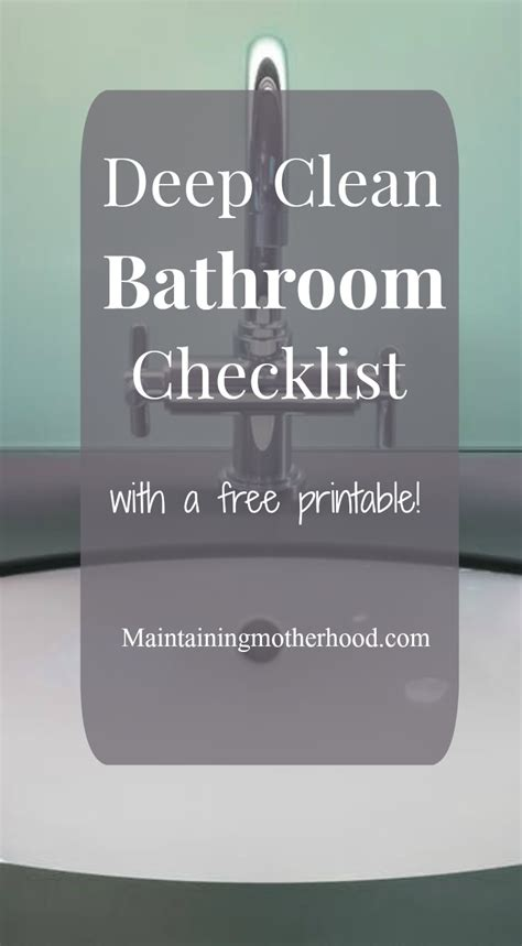 deep clean bathroom checklist deep clean bathroom checklist maintaining motherhood