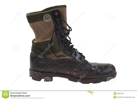 combat boots war period isolated stock photo