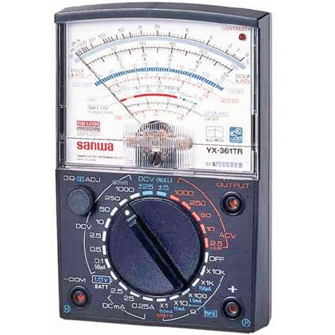 Cek Multitester sanwa yx 361tr analog multitester meter digital