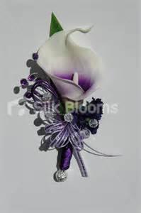 purple corsage beautiful purple centred white picasso wedding corsage ebay