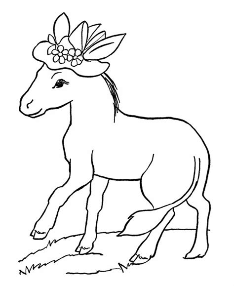 printable animal free printable donkey coloring pages for kids