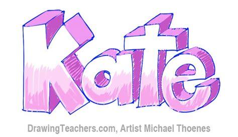 how to draw 3d letters how to draw 3d letters kate 1296