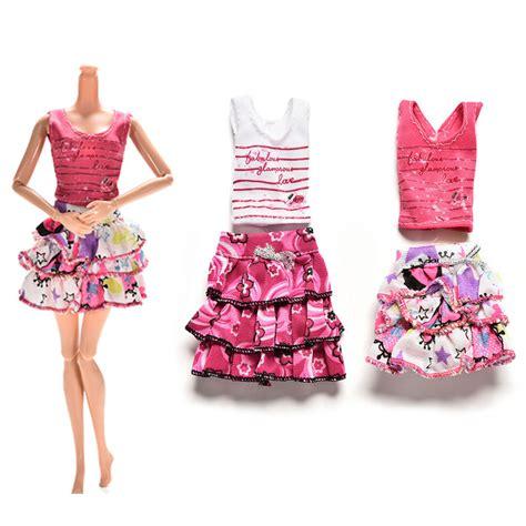 10x Kid Mini Dress Dolls Fashion Clothes Mixed Style For Pa mini dolls reviews shopping mini