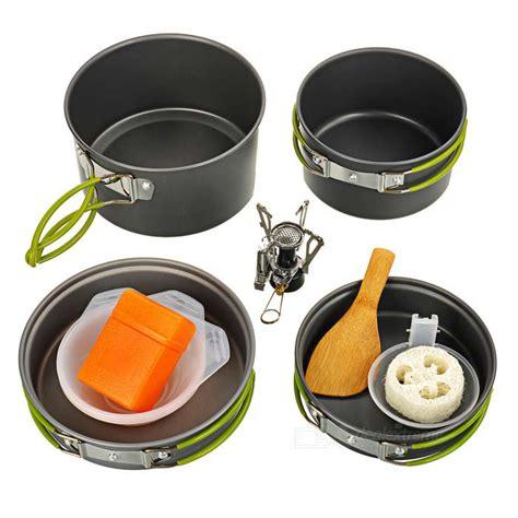 buy ds 301 cooking pots pans burner stove set 2 3 person