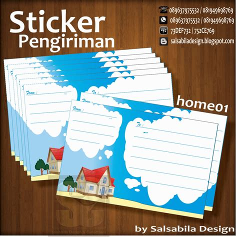 desain kartu nama kosongan sticker label pengiriman motif curan kosongan jasa