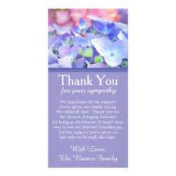 hydrangeas bereavement sympathy thank you card photo card zazzle