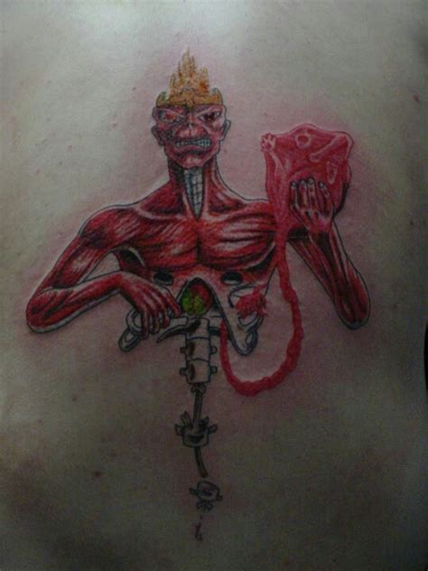 megadeth tattoo designs iron maiden or megadeth album not sure which tattoos