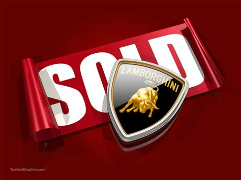 Lamborghini Stickers Stock Illustration Of A Lamborghini Logo And Sold Sticker