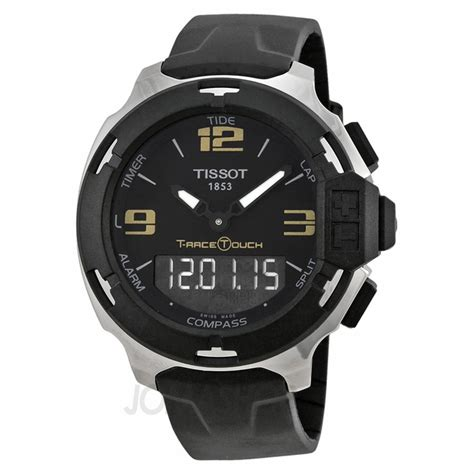 tissot t race touch analog digital black synthetic