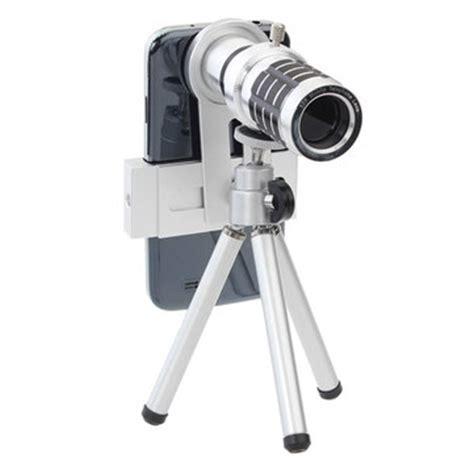 Original Pickogen Universal Lens 12x Zoom Telescope Lensa Clip Jepit 12x universal zoom lens tripod telescope for mobile phone us 29 99
